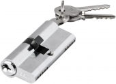 ANBO,Цилиндр замка 2200 ключ/ключ,английский,3 ключа,никель 35*40(1к-10шт)