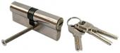 Профильный цилиндр ключ/ключ, цвет цинк   35x45